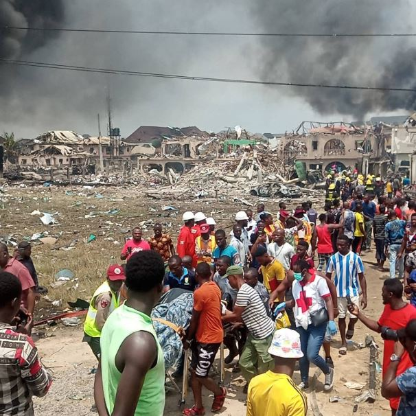 Security operatives are yet to confirm the cause of the explosion