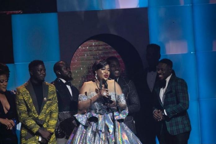 Toyin Abraham wins best actress in the drama category for her role in Elevator Baby