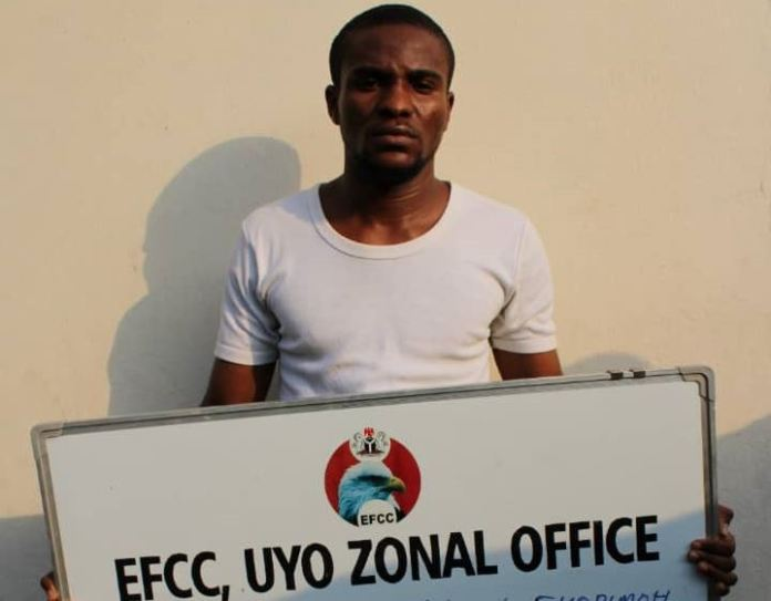 Abasiama Essien Ekopimoh alias Foster Scolt was jailed for internet fraud