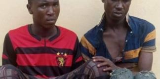 Kosisochukwu Onyemerem and Emeka Kalu were arrested after a gun fight with police in Onitsha, Anambra State