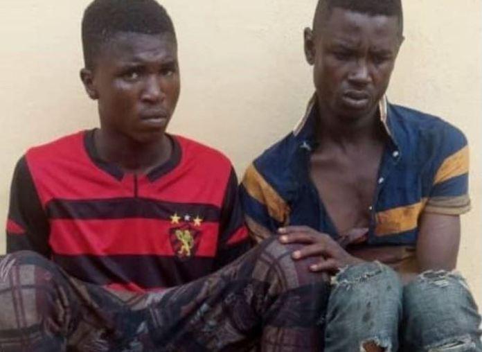 Kosisochukwu Onyemerem and Emeka Kalu were arrested after a gun fight with police in Onitsha, Anambra State