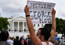 Protesters in front of White House calling for justice for George Floyd