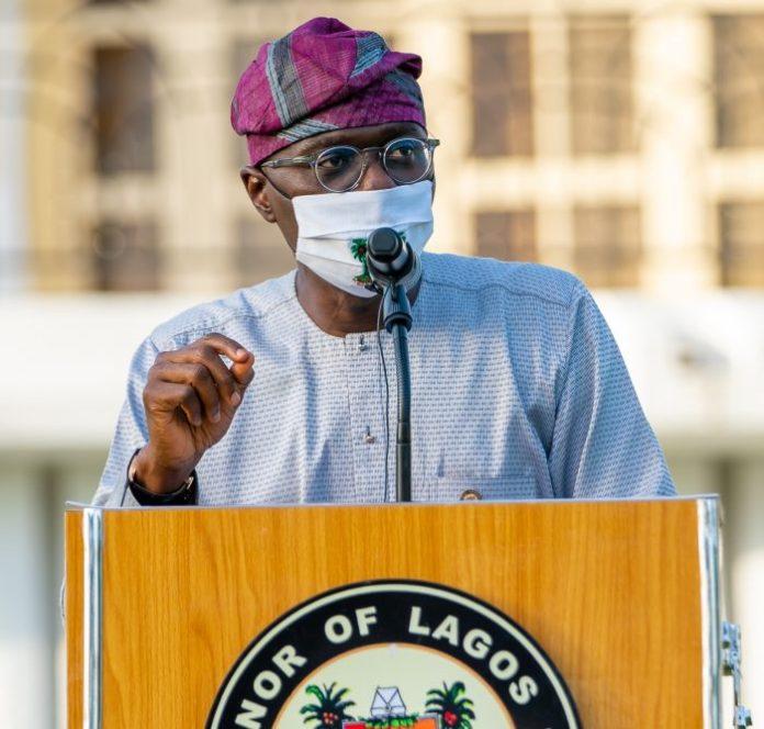 Governor Babajide Sanwo-Olu of Lagos COVID-19 e-hailing protesters curfew Crossover service coronavirus