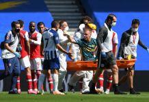 Arsenal goalkeeper Bernd Leno accused Brighton's Neal Maupay of injuring him