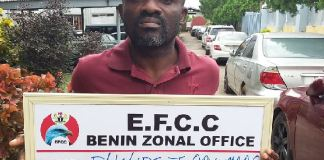 Philips Orunmade has been arrested by EFCC after defrauding First Bank Plc