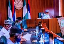 President Muhammadu Buhari attended the APC NEC meeting at the Council Chambers