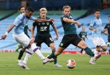 Riyad Mahrez scored a hat-trick as Manchester City beat Burnley