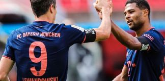 Bayern's Serge Gnabry scored his 19th goal of the season with a delightful lobbed finish