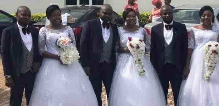 Triples brothers marry triplet sisters in Enugu