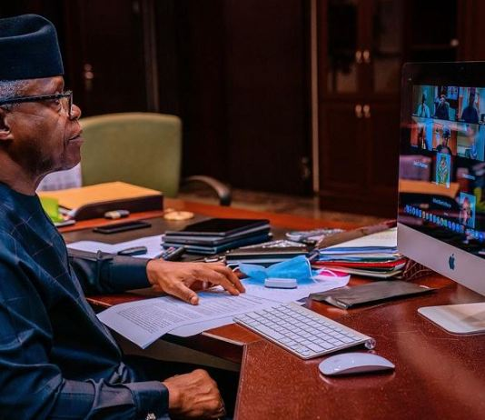 Vice President Yemi Osinbajo presided over Presidential Power Reform Working Group