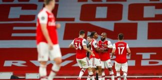 Alexandre Lacazette equalise for Arsenal against champions Liverpool