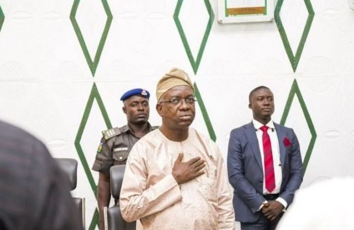 Deputy Governor Rauf Olaniyan of Oyo state was denied entry to late Governor Ajimobi's 8th Day Fidau prayer