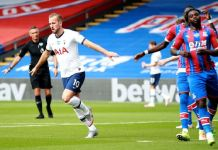 Harry Kane scored his 18th Premier League goal of season against Crystal Palace