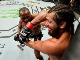 Kamaru Usman has a go at Jorge Masvidal during #UFC251