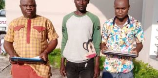 EFCC has arrested Michael Damhindi, 36, Chidi Emmanuel Aniekwe, 32 and Terhemba Iorhen, 35 for ATM fraud
