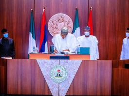 President Muhammadu Buhari signs Police Bill 2020