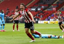 Sander Berge scored his first goal for Sheffield United against Tottenham Hotspur