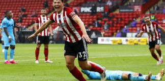 Sander Berge scored his first goal for Sheffield United against Tottenham Hotspur