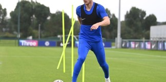 Timo Werner training for the first time at Cobham