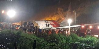 At least 16 persons were killed when an Air India Express plane crashed