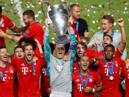 Bayern Munich beat PSG 1-0 to claim their sixth UEFA Champions League