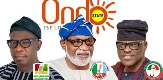 Ondo Governor Akeredolu, Eyitayo Jegede and Agboola Ajayi have been cleared by INEC to contest the election