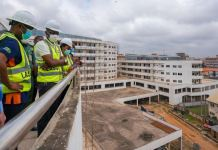 Governor Babajide Sanwo-Olu inspects Alausa Multi Agency Complex