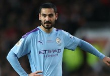 Manchester City's Ilkay Gundogan has tested positive for coronavirus