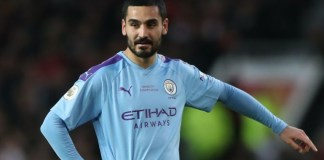 Manchester City's Ilkay Gundogan has tested positive for coronavirus