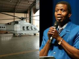 Pastor E. A. Adeboye has acquired a helicopter for evangelism
