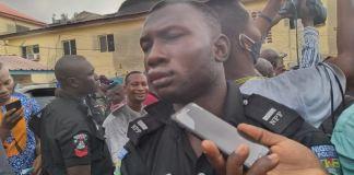 A suspect was arrested wearing a DPO uniform