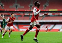 Bukayo Saka (aged 19 years, 29 days) is the youngest English player to score a PL goal for Arsenal at Emirates Stadium since Alex Oxlade-Chamberlain (18 years, 173 days) in February 2012