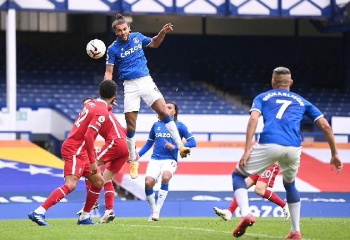 Dominic Calvert-Lewin's goal scoring streak continues for Everton in the Merseyside derby