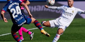 Eden Hazard scored his first Real Madrid goal in over a year