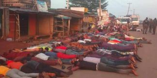 Residents of Ilesha in Osun State were asked to lie down on their faces by Nigeria Air Force personnel for flouting curfew guidelines
