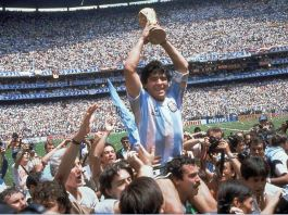 Diego Maradona led Argentina to World Cup glory in 1986