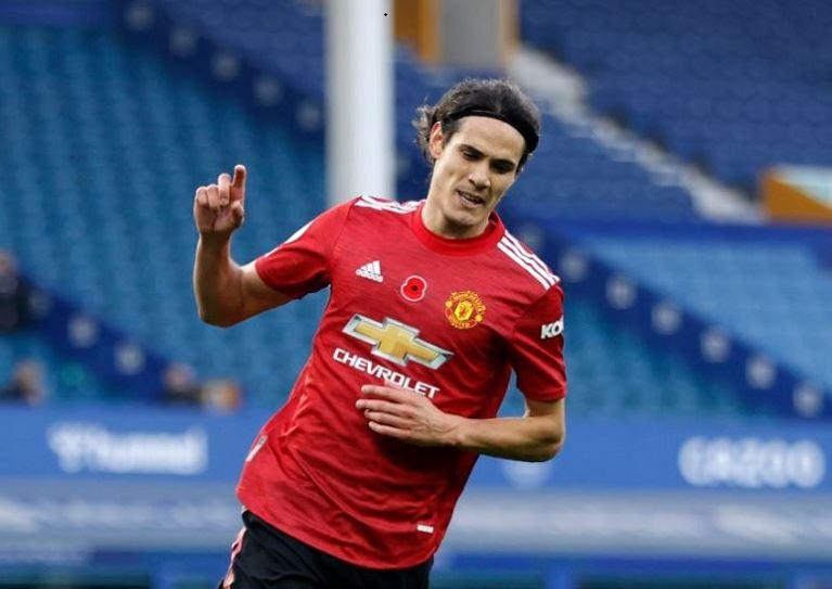 Cavani Scores First Man Utd Goal Against Everton Chronicle Ng