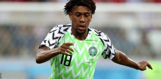 Everton forward Alex Iwobi scored twice for Nigeria against Sierra Leone