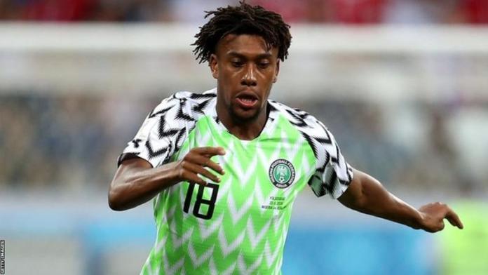 Everton forward Alex Iwobi scored twice for Nigeria against Sierra Leone