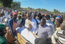 Governor Babagana Zulum leads residents to bury 43 farmers killed by Boko Haram