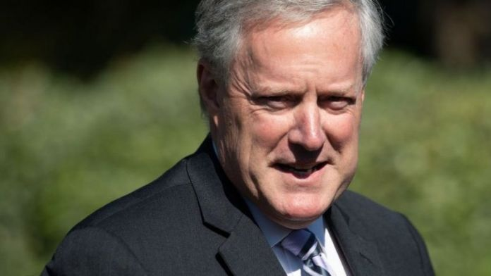 Mark Meadows was at an election night party at the White House on Tuesday