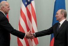 Vice President Joe Biden (L) and President Vladimir Putin, seen here in 2011, had a frosty relationship during Barack Obama's presidency