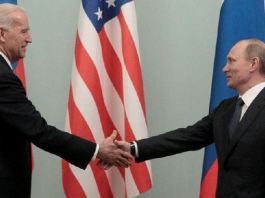 Vice President Joe Biden (L) and President Vladimir Putin, seen here in 2011, had a frosty relationship during Barack Obama's presidency