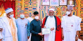 Nasarawa State Traditional Council honours Osinbajo with Madagun Jihar Nasarawa title