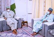 President Muhammadu Buhari received update on the abduction of GSSS students from Governor Aminu Masari of Katsina state kankara
