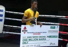 Rilwan 'BabyFace' Babatunde won the N1m cash prize at 2020 GOtv Boxing Night