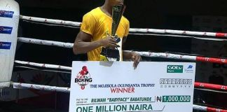 Rilwan 'BabyFace' Babatunde won the N1m cash prize at 2020 GOtv Boxing Night