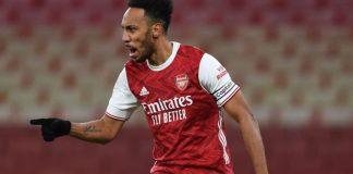 Pierre-Emerick Aubameyang celebrates his goal vs Southampton