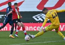 Southampton Forster save Arsenal's Nketiah effort