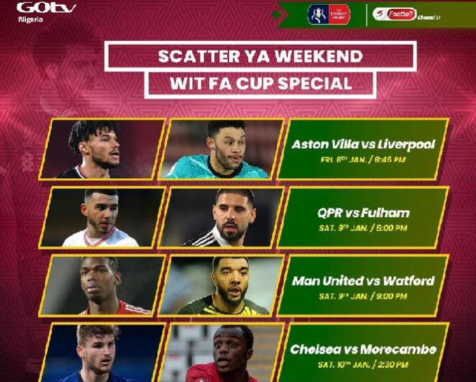 GOtv air FA Cup, La Liga and Serie A matches1
